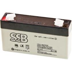 Bateria Plomo Gel recargable de 6v.1.300mA
