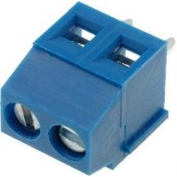 Bornas circuito impreso 3.81mm Azul 2pin