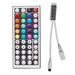 Slim Controlador PWM con mando 44 teclas para Tiras Led RGB 12v.