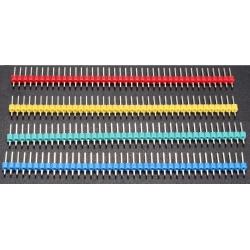 Tira de postes (40 Pin) Colores macho paso 2.54mm Recto