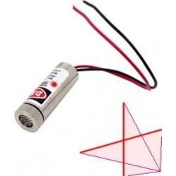 Módulo Led-Láser Cruz 5mw 650nm 3v