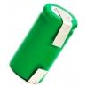 Batería NI-MH Recargable 2/3 de AA 1.2v 900mA especial AA con lengueta