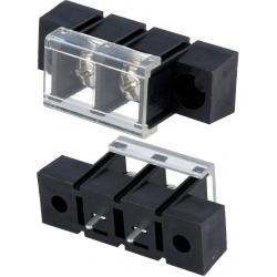 Bornas paso 10mm de tornillo 10A 2p