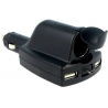 Cargador-Adaptador Mechero Micro USB-2xUSB-A 12/24v-5v