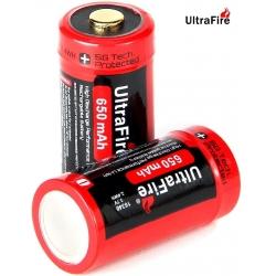 Bateria Ultrafire UR16340 650mA Protegida
