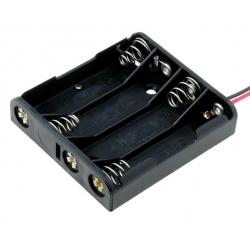 Portapilas baterías 4xAAA