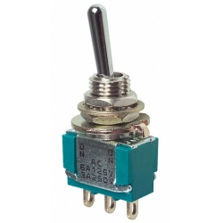 Interuptor de palanca subminiatura 1c2pos.