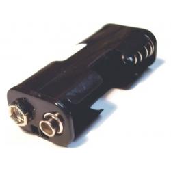 Portapilas baterías Clip 2 x AA o 14500
