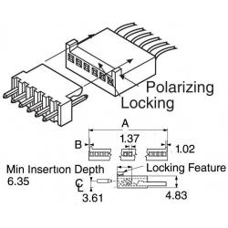Conectores Molex Hembra paso 2.54mm