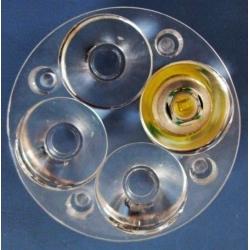 Lentes MultiLed de 50mm para 4 Led CREE